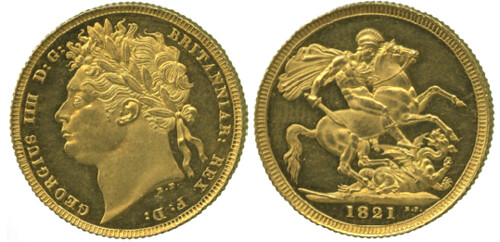 1821 Gold Soverign