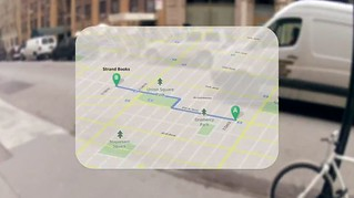 Google project glasses augmented reality... the new google street maps...