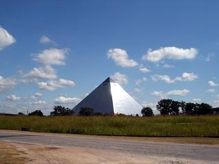 An Alien Pyramid in a Field