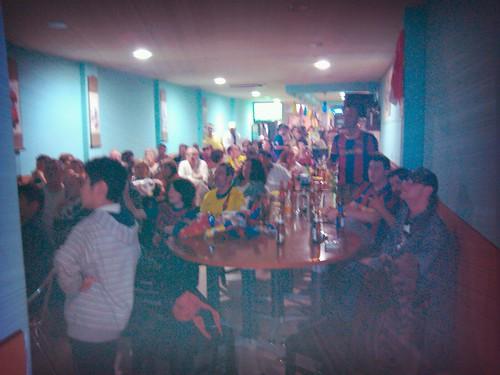 A bar full of culers by simonharrisbcn