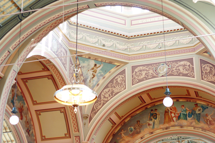 royal exhibition ceiling detial dome