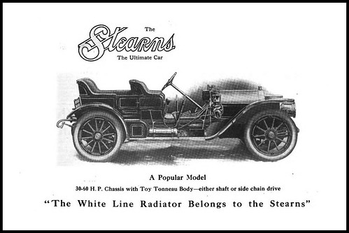 1909 The Stearns - 30-60 H.P. with Toy Tonneau Body -The F. B. Stearns Company  -  Cleveland Ohio by carlylehold
