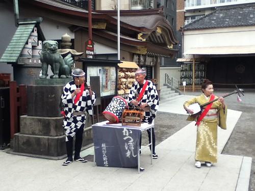 东京浅草神社传统乐舞表演
