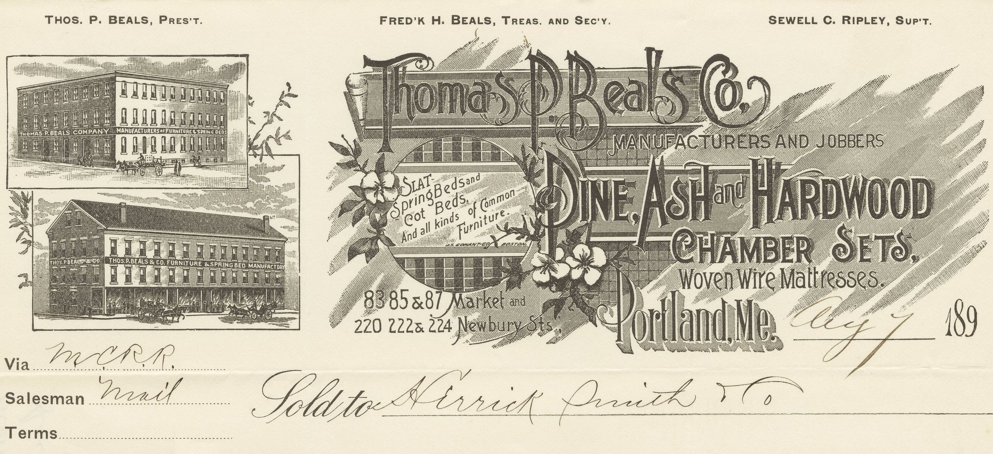 Thomas P. Beals Co. Pine Ash + Hardwood Chamber Sets - Wov ...