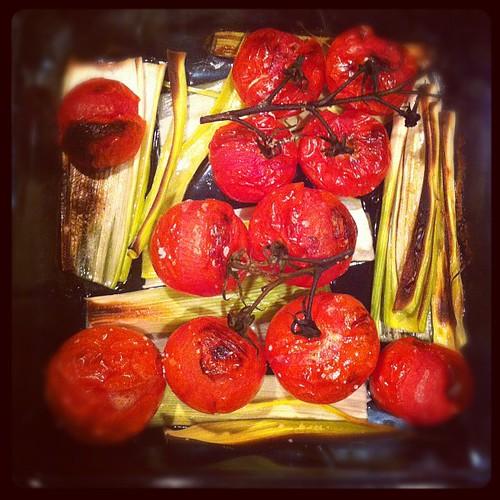Roasted tomato & leek