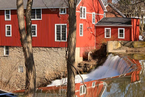 Over the Falls at Honeoye Falls, NY