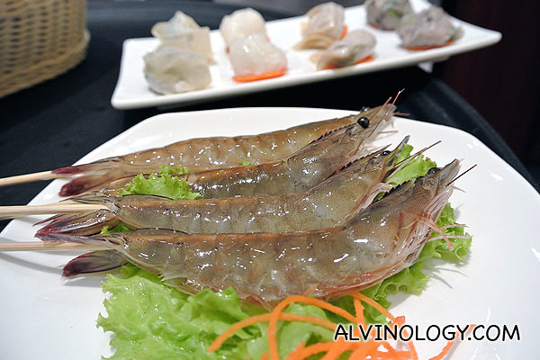 Fresh prawns