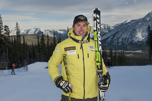 Ski cross racer Dave Duncan  in Nakiska.