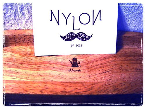 Nylon Coffee Roasters' card & tray