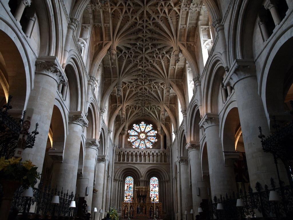 Romanesque Architecture Interior Oxford Cathedral Interior By