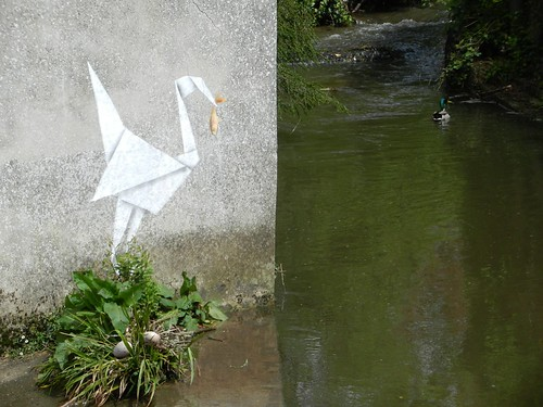 Paper Duck 1 Photos | Banksy's Crane in Lyme Regis. Nesting season is here! | 50