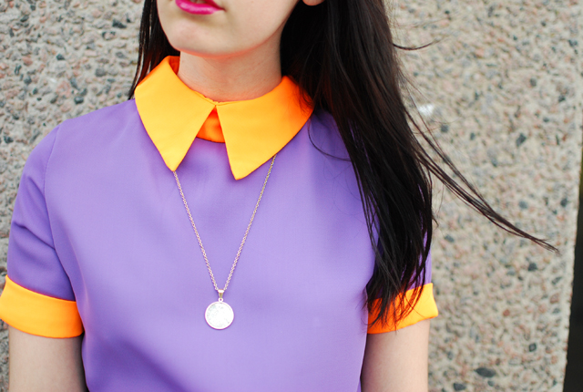 Lilac and orange