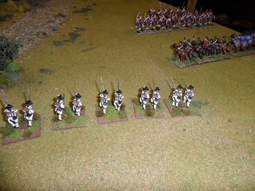Cavalry engagement on the French right