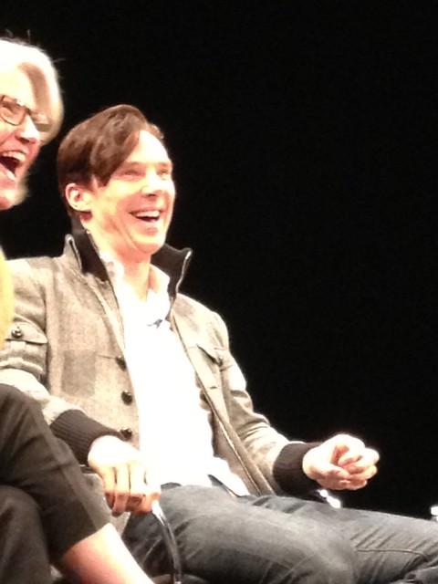 I had a fairly good view at the Sherlock event. Just LOOK at his JACKET.
