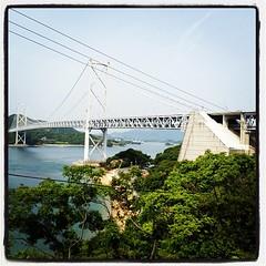 けっこう上がってきました。橋までもうちょい。