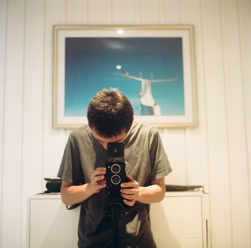 With my Yashica