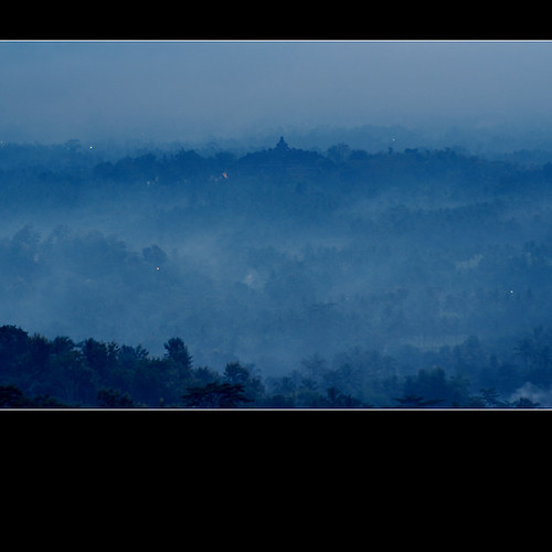 Borobudur in mist