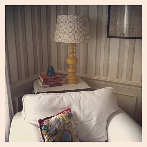 I think I found a home for my new lovely mustard lamp. #mothersday