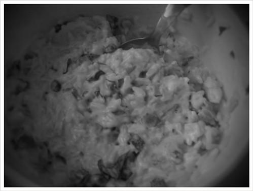 Ρύζι με τόνο, μαγιονεζα και διαφορά μυρωδικα και τουρσια