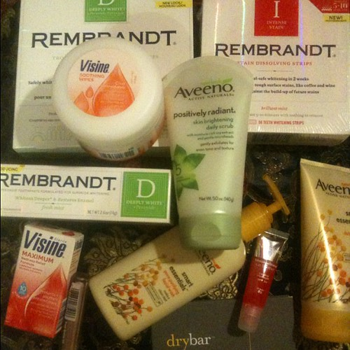 Killer gift bag swag from the Rembrandt spa party.