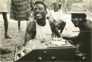 Nigeria - 2  men & tape recorder