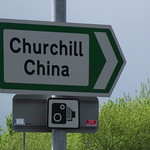Reginald Mitchell Way - speed camera signs