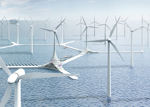 挪威風力發電。