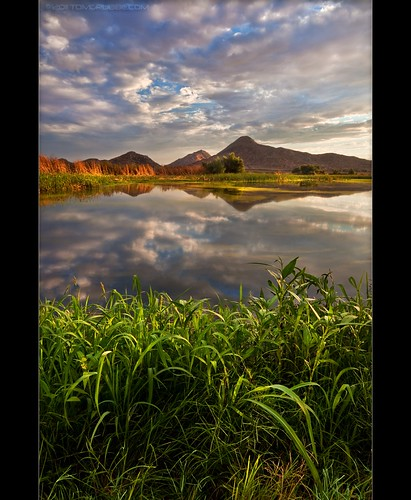 sunset lake reflection grass clouds pond lagoon hills bog sanjacinto sanjacintowildlifearea