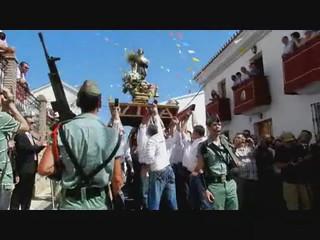 video 02 Periana procesión San Isidro Labrador 2012 desfile ante el Santo de La Legión Española