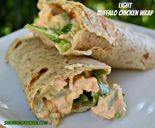 light buffalo chicken wrap