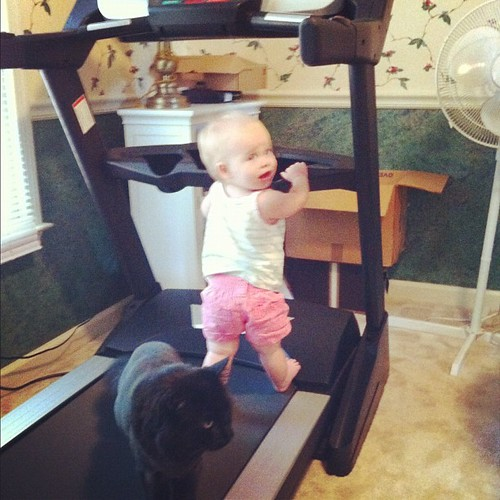 Lucy & Beaumont are workout buddies. (It was unplugged, I promise.)