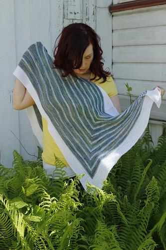 Stripe Study Shawl - wrong side