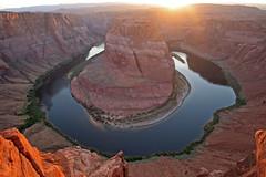 [フリー画像素材] 自然風景, 渓谷, 河川・湖, 岩山, 風景 - アメリカ合衆国, ホースシューベンド ID:201206040600