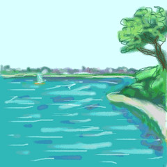 Beverly from Lynch Park (Digital Sketch) by randubnick