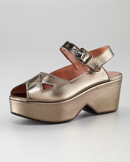 Robert Clergerie, Platform Ankle-Stap Sandal NM Retail $575 on sale for $385