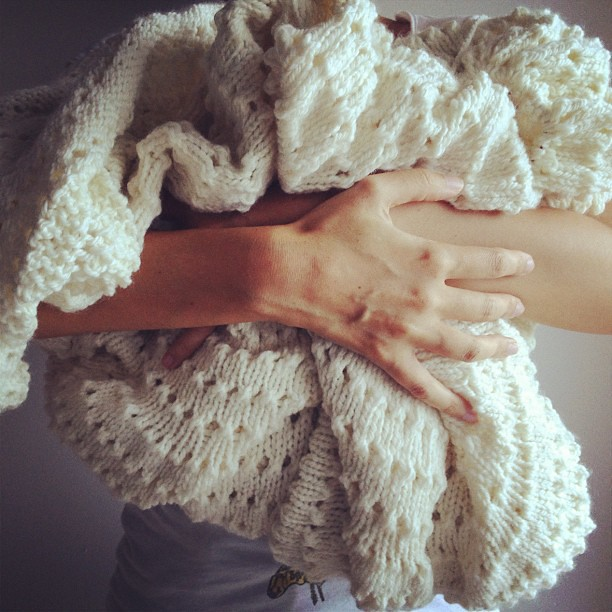 My #knitting is this big. Chamamos-lhe Ovelha Avó.