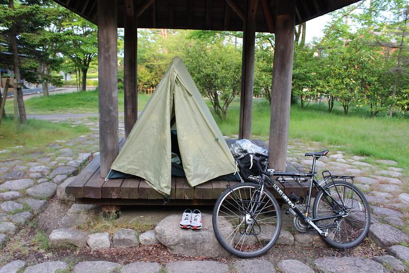 公園でテント その2