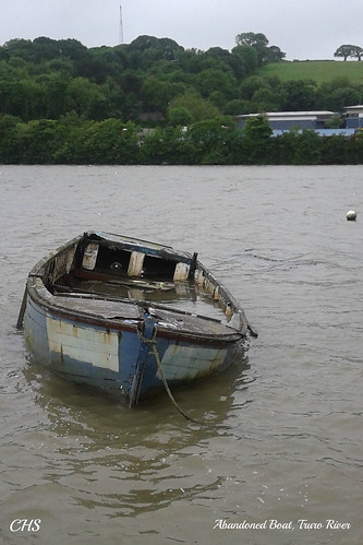 Abandoned Boat, Truro River by Stocker Images