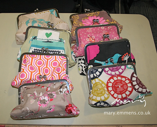 Finished frame purses