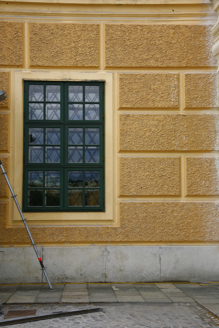 schönbrunn palace window, Yellow Ochre