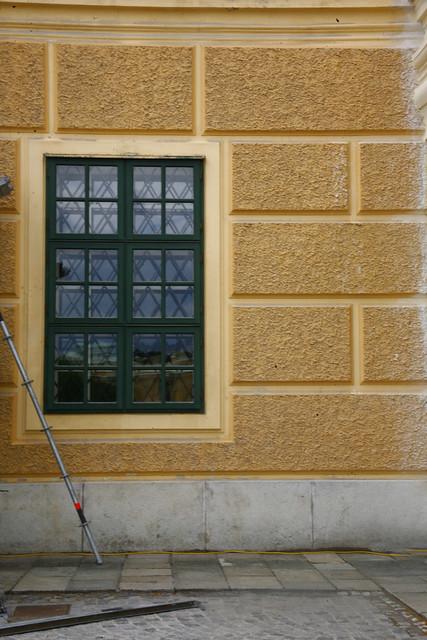 schönbrunn palace window, Yellow Ochre