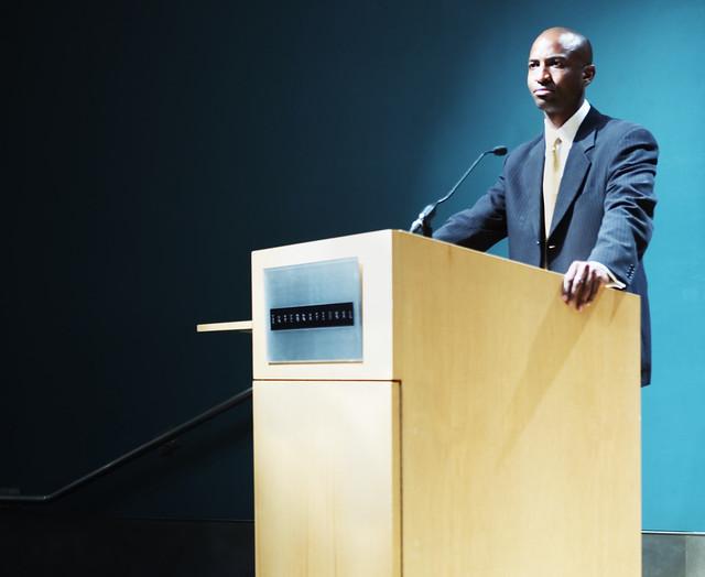 Speaker At Podium Flickr Photo Sharing