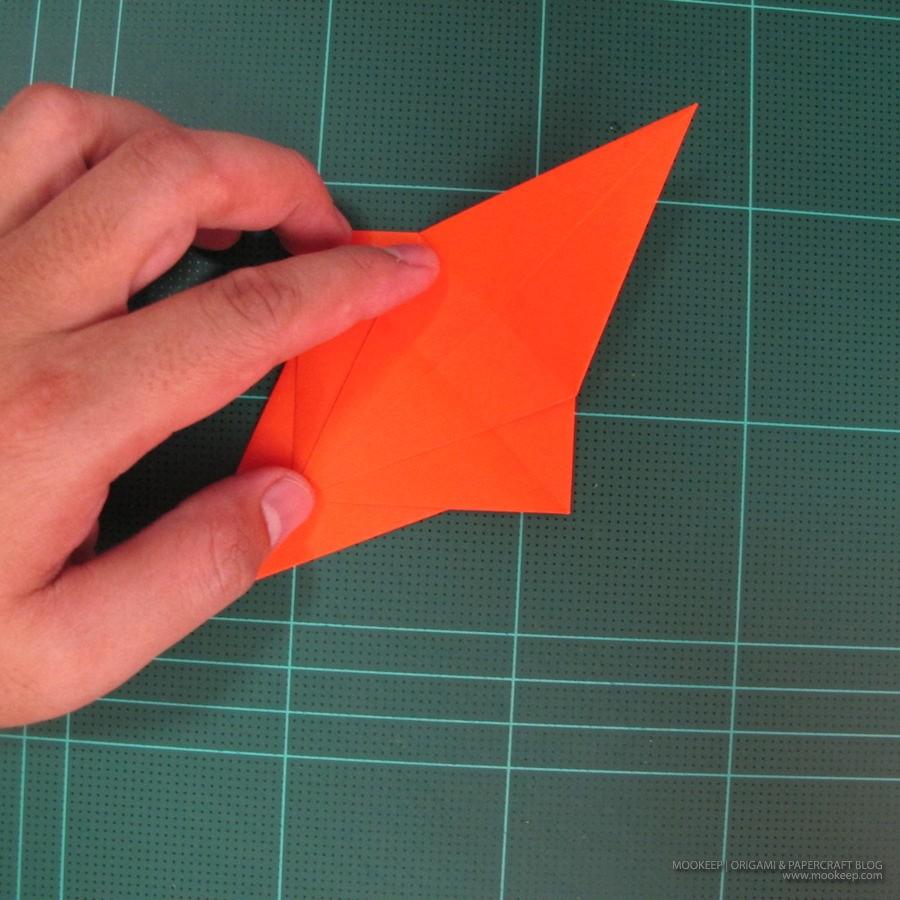 วิธีการพับกระดาษเป็นรูปไดโนเสาร์ (Origami Dinosaur) 001