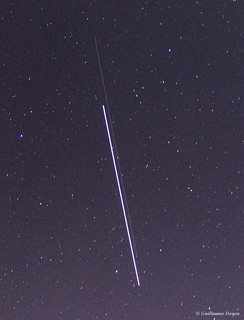 The ISS progress 55 spacecraft visible !