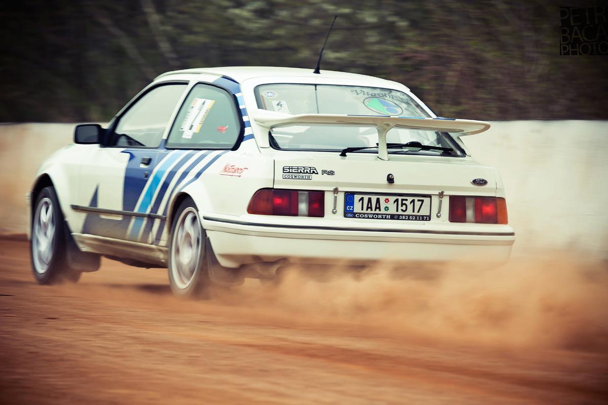 Rallye Praha Revival 2014, RPR, Eda Patera, Chabařovice, plochá dráha, Ford Sierra RS Cosworth, Pavel Šofr,