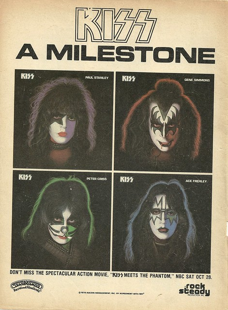 "Kiss Solo Albums (Released: 09/18/78)(Magazine Ad /w/ ""Kiss Meets The Phantom"" Info)"