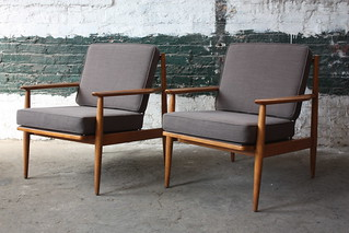 ***ON DECK*** Victorious Viko Baumritter Mid Century Modern Lounge Chairs (U.S.A., 1950s)