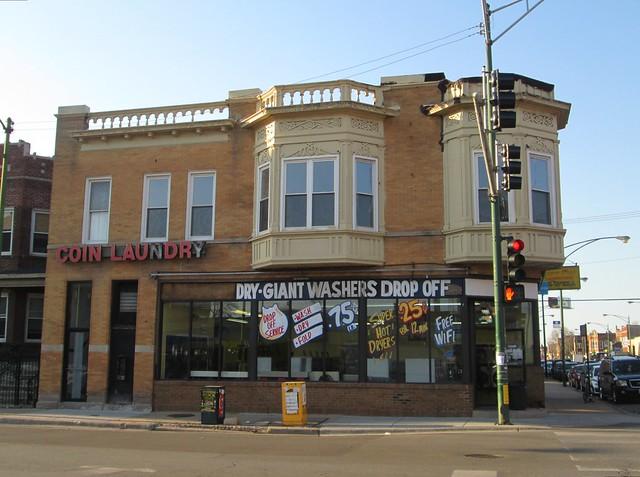 corner laundromat, Diversey & Kedzie, Chicago