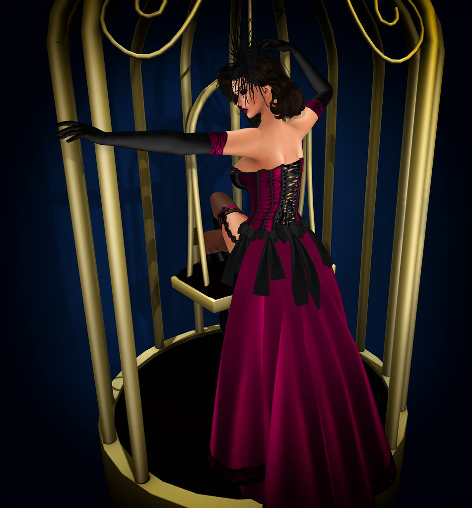 Burlesque cage, {Exposeur}