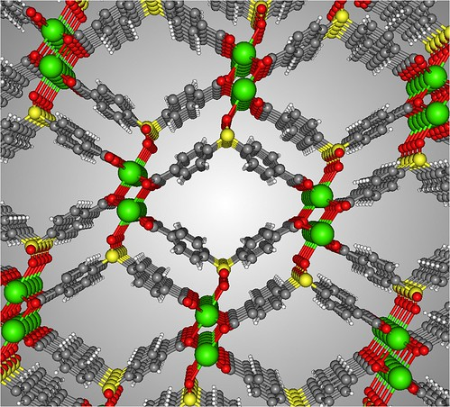 Molecular Model of a New Metal Organic Framework (MOF)